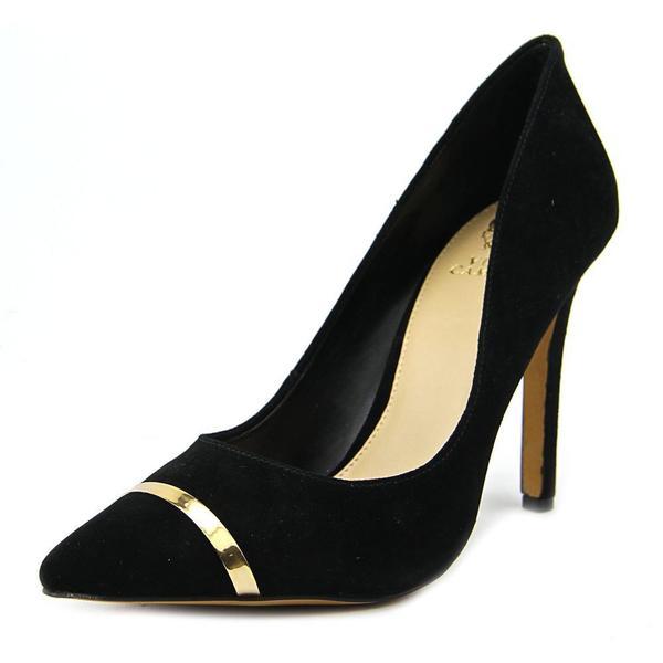 Vince Camuto Women's Cresida2 Black Kid Suede Dress Shoes