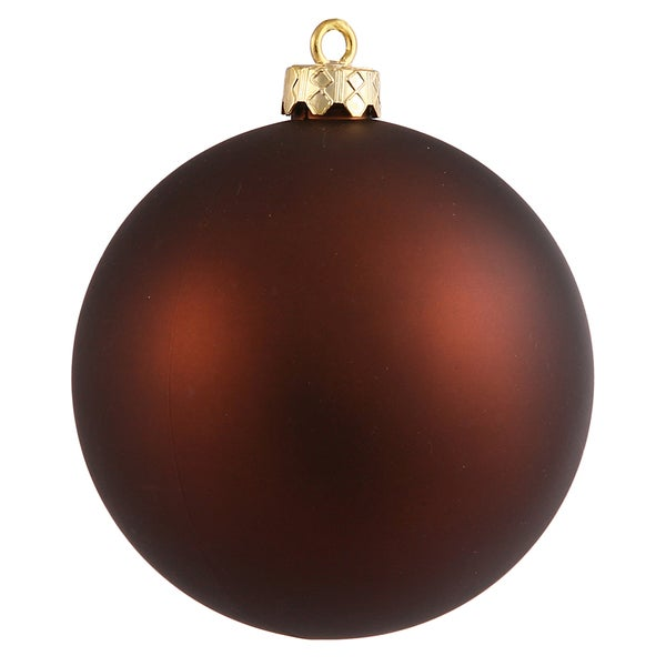Mocha 10-Inch Mocha Matte Ball Ornament