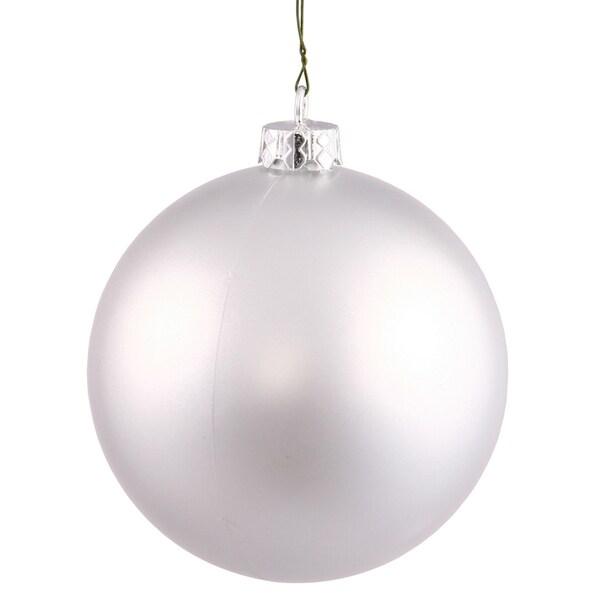 Plastic Matte Silver 10-inch Ball Ornament 20787582