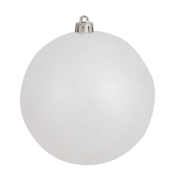White Plastic 10-inch Candy Ball Ornament