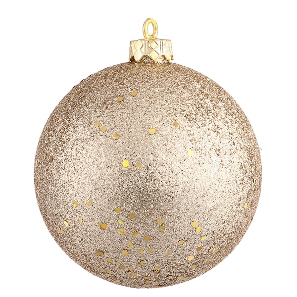 "8"" Champagne Sequin Ball Ornament"