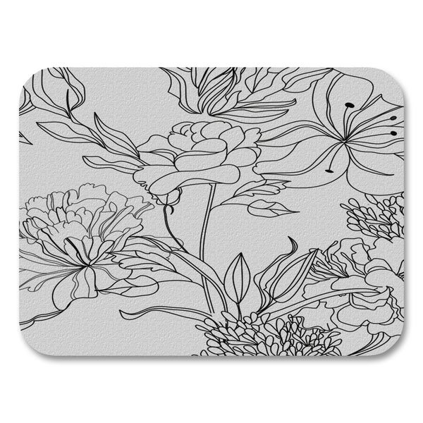 Black/White Florals Placemats (Set of 4)