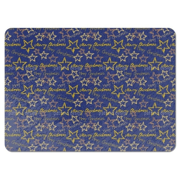 Merry Christmas Blue Placemats (Set of 4)