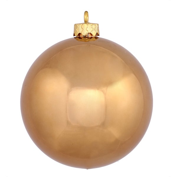 Mocha 12-inch Shiny Ball Ornament