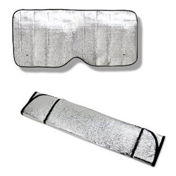 White Foil Insulated Car Sunshade