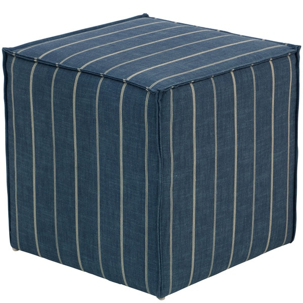 Skyline Furniture Fritz Indigo French Seam Cocktail Ottoman