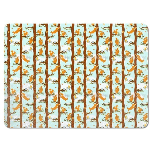 Squirrel Party Placemats (Set of 4)