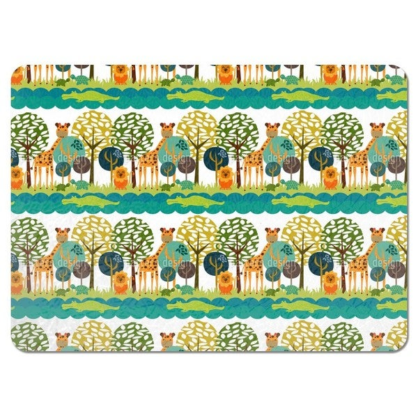 African Safari Club Placemats (Set of 4)