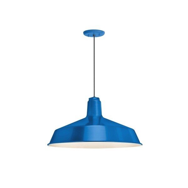 Troy RLM Lighting Standard Blue Pendant