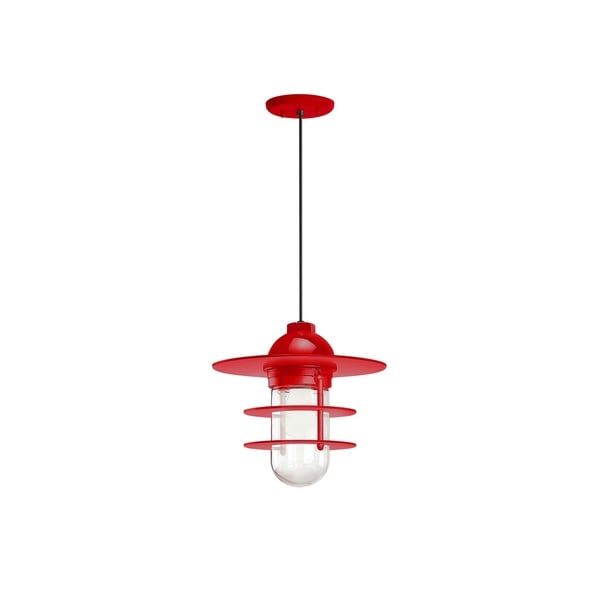 Troy RLM Lighting Retro Industrial Red Flat Pendant