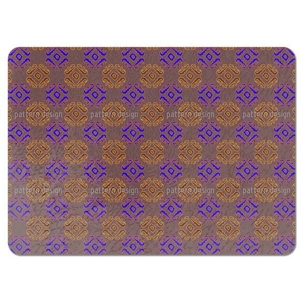 Ethno Signs Brown Placemats (Set of 4)