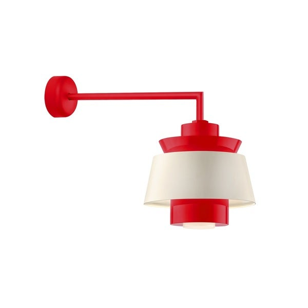 Troy RLM Lighting Aero Red 18 inch Arm Multi Shade Wall Sconce, 14 inch Shade