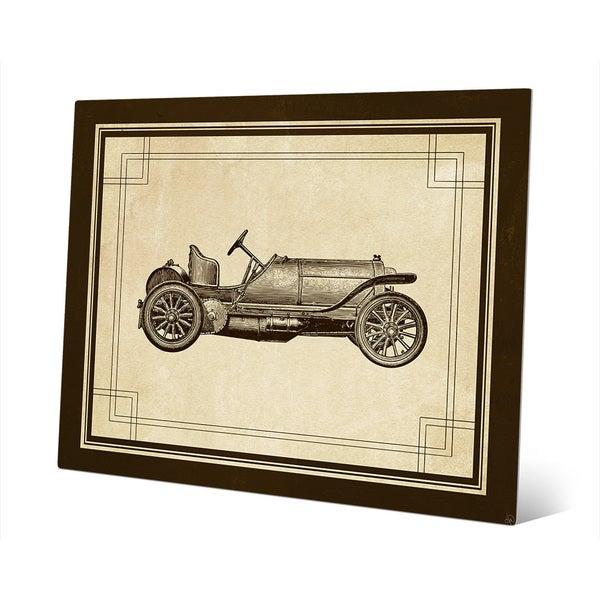 'Vintage Race Car' 0.04 Aluminum Metal Ready-to-hang Wall Art