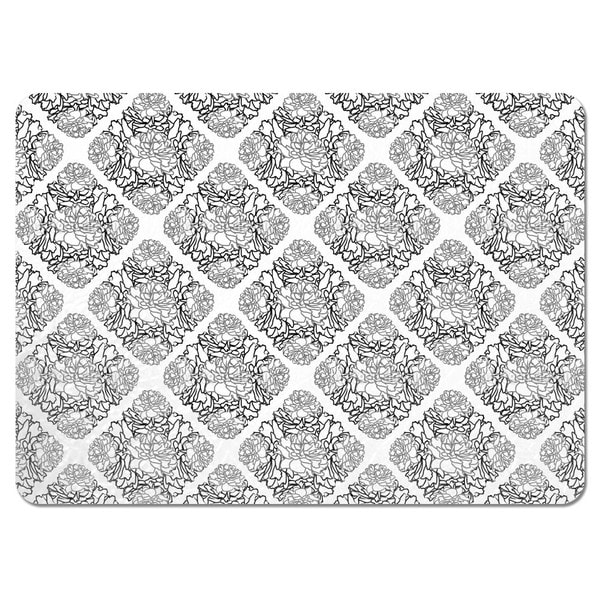 Rose Dream Black White Placemats (Set of 4)