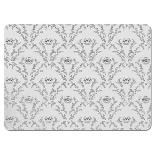 Emmas Cherries Grey Placemats (Set of 4)
