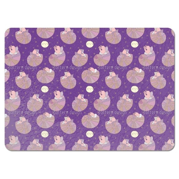 Miss Snail and the Man in the Moon Placemats (Set of 4)