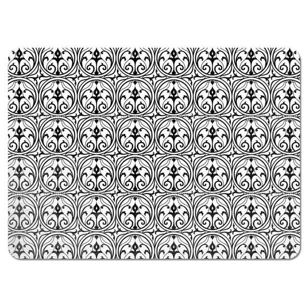 Loretta Black White Placemats (Set of 4)