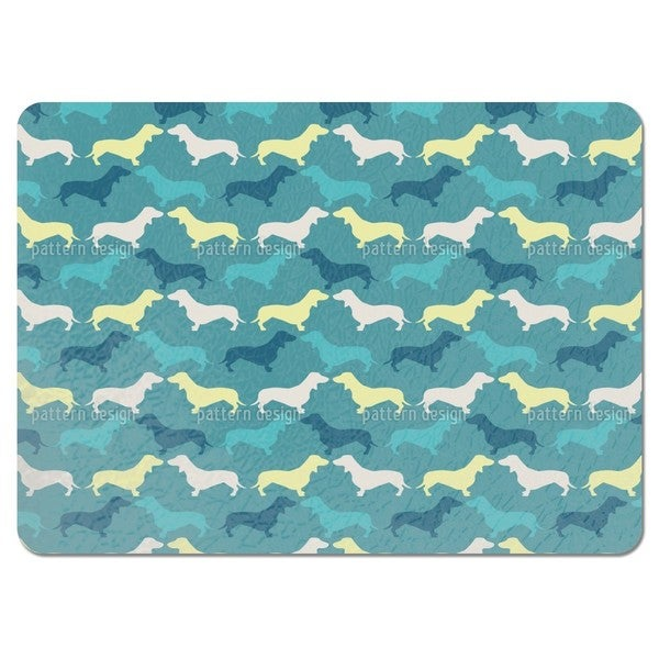 Dachshund Petrol Placemats (Set of 4)