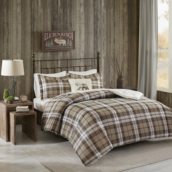 Woolrich Rock Ridge Khaki Softspun Down Alternative Comforter Set