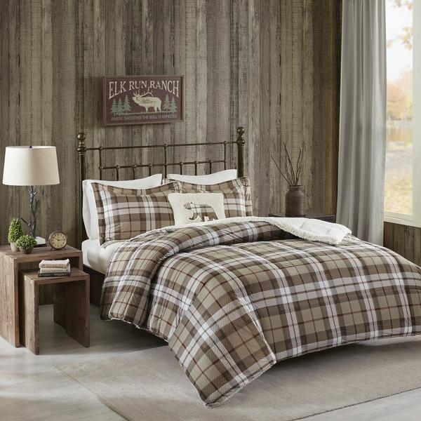Woolrich Rock Ridge Khaki Softspun Down Alternative Comforter Set