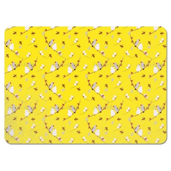 Lovebirds Yellow Placemats (Set of 4)