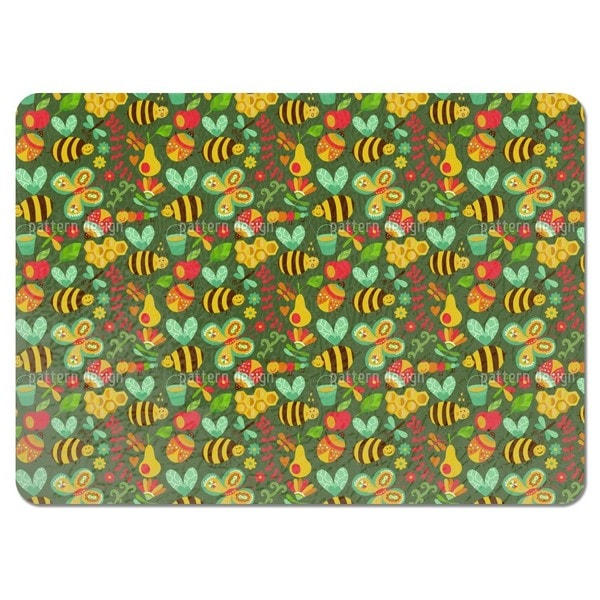 Busy Honey Bees in the Woods Placemats (Set of 4)
