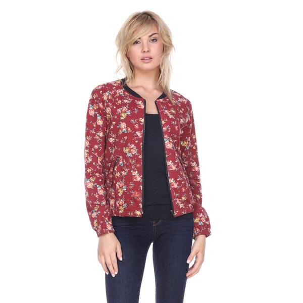 Stanzino Women's Floral Cotton-polyester Zip-up Jacket 20793561
