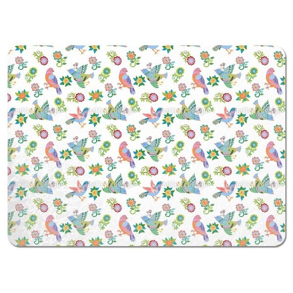 Birds and Flowers Placemats (Set of 4)