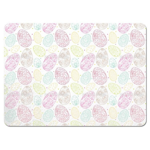 Delicate Easter Eggs Placemats (Set of 4)