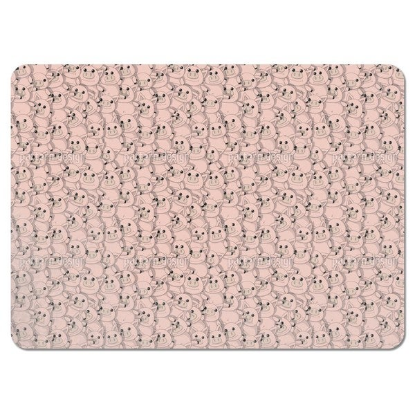 Piggy Button Eyes Party Placemats (Set of 4)