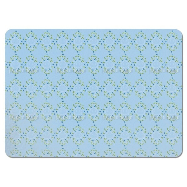 Forget Me Not Blue Placemats (Set of 4)