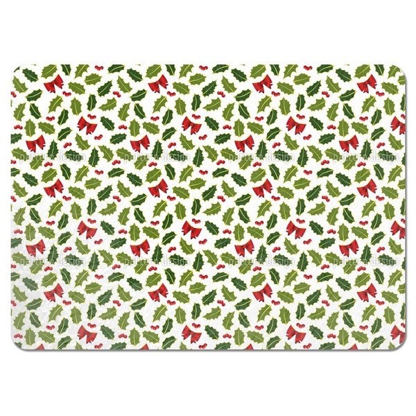 Holly Christmas Placemats (Set of 4)