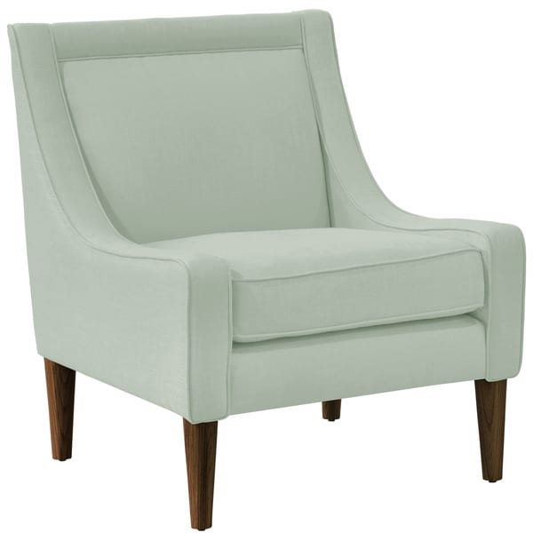 Skyline Furniture Skyline Linen Swedish Blue Mid Century Swoop Arm Chair