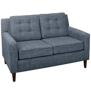 Skyline furniture belissa blush french seam settee for Button tufted chaise settee velvet aubergine