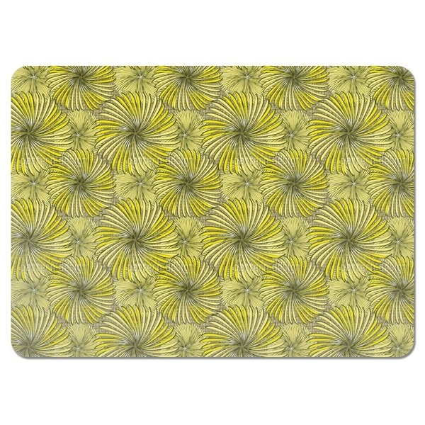 Turning Wheels Yellow Placemats (Set of 4)