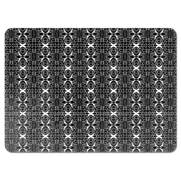 Free Form Black and White Placemats (Set of 4)