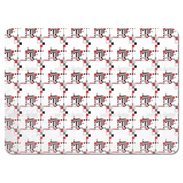 Red and Black Construction Placemats (Set of 4)