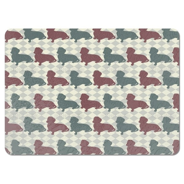 Dachshund Check Mate Placemats (Set of 4)