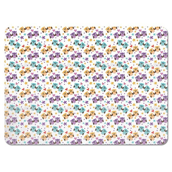 Owls in Love Placemats (Set of 4)