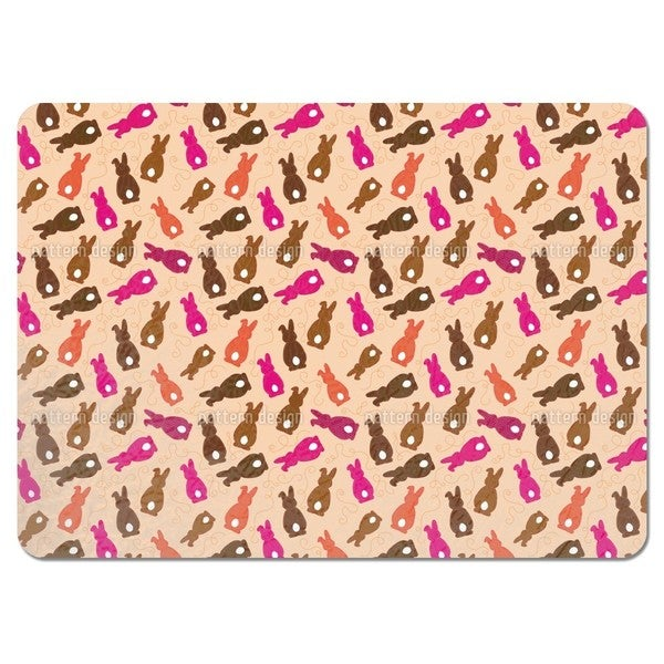 Bouncing Bunnies Pink Placemats (Set of 4)