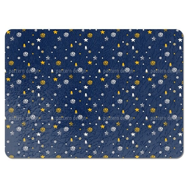 Christmas Decorations Blue Placemats (Set of 4)