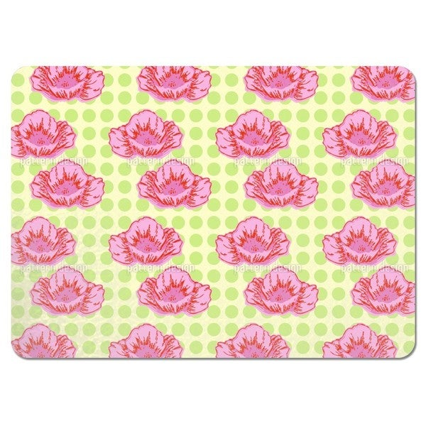 Poppies Like It Dotty Green Placemats (Set of 4)