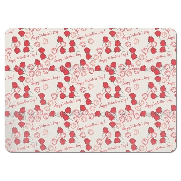 Valentines Day Roses Placemats (Set of 4)