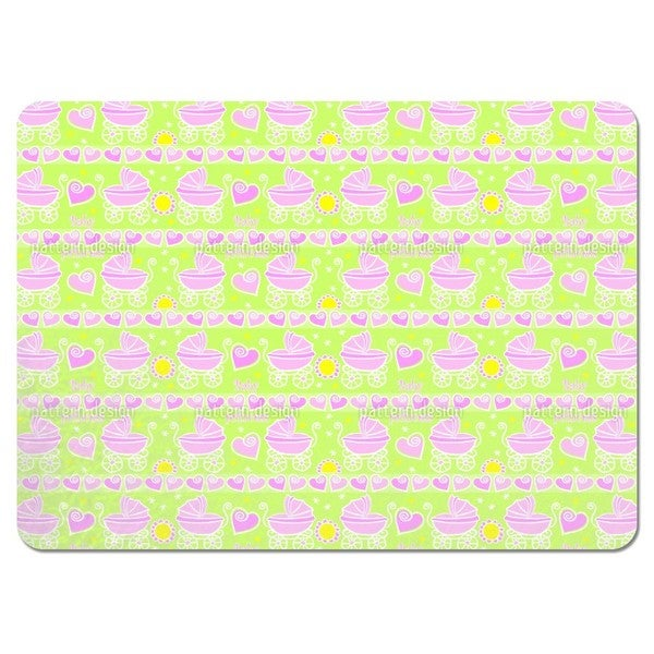 Neon Baby Pink Placemats (Set of 4)