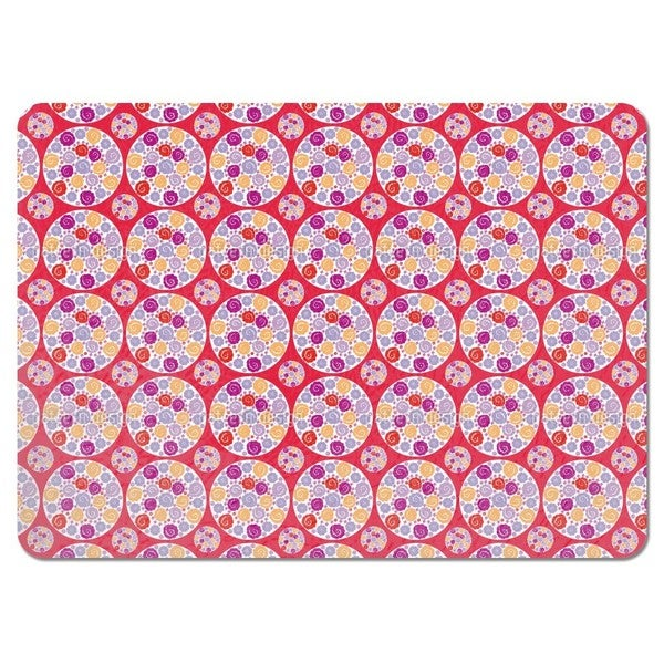 Flower Bouquet Red Placemats (Set of 4)