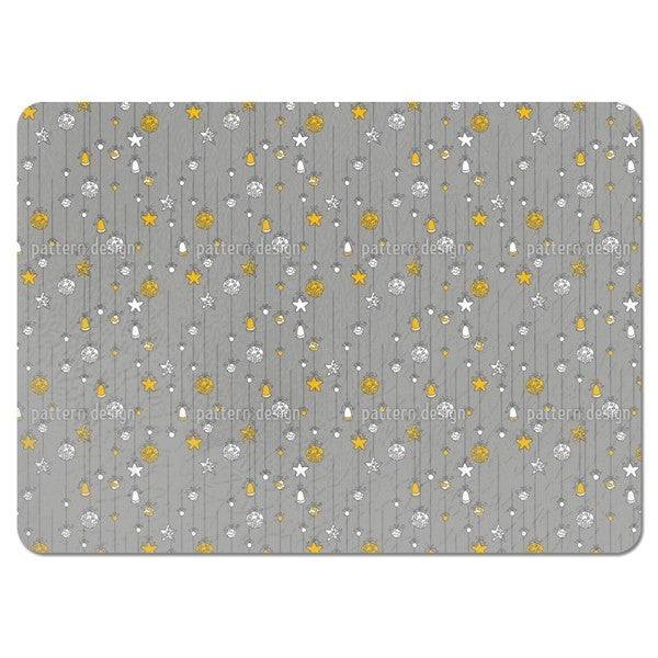 Christmas Tree Decorations Grey Placemats (Set of 4)
