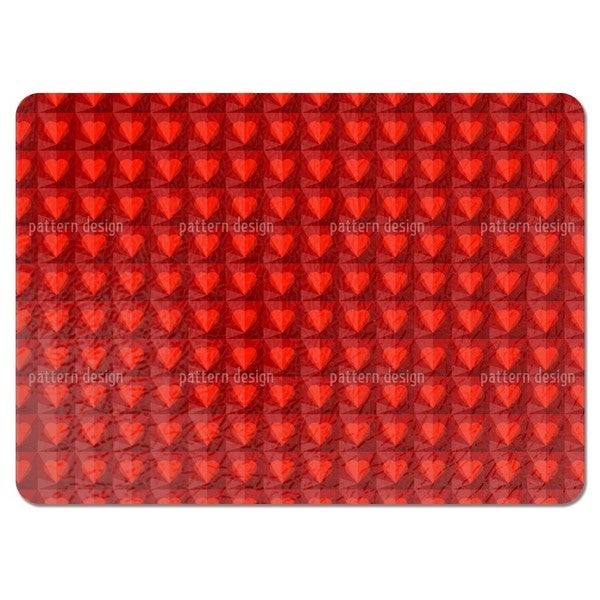 Ruby Hearts Placemats (Set of 4)