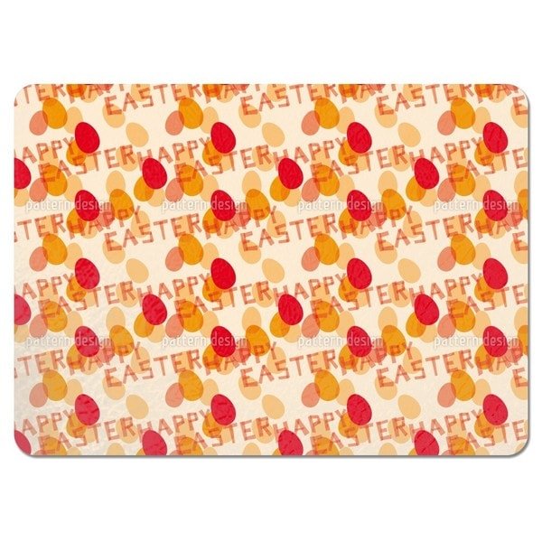 Happy Easter Red Placemats (Set of 4)