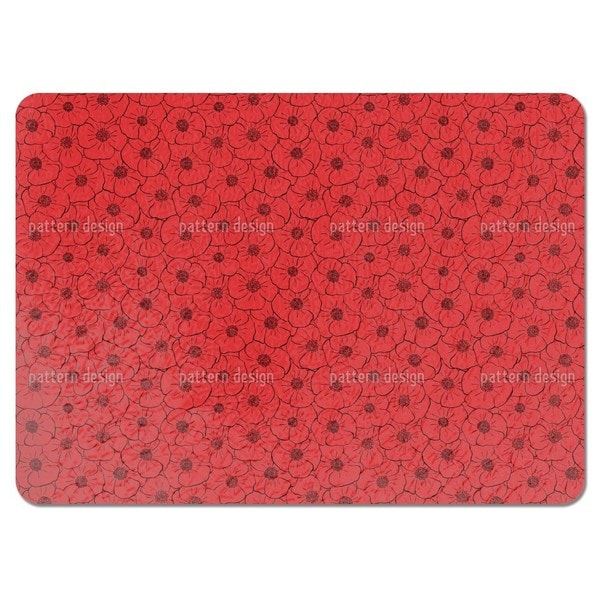 Delightful Poppy Field Placemats (Set of 4)