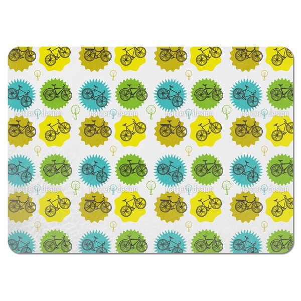Cool Bikes Placemats (Set of 4)